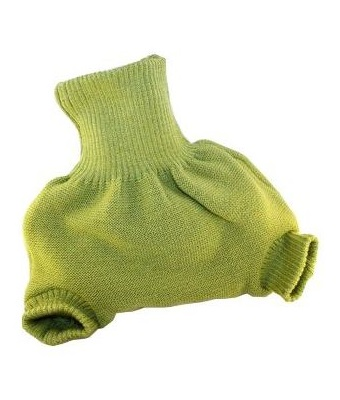 culotte en laine à enfiler Disana vert
