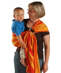 ring sling storchenwiege gamme rayée